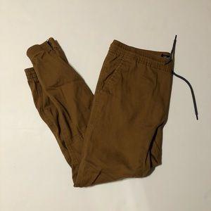 Brooklyn cloth joggers medium side zip tan